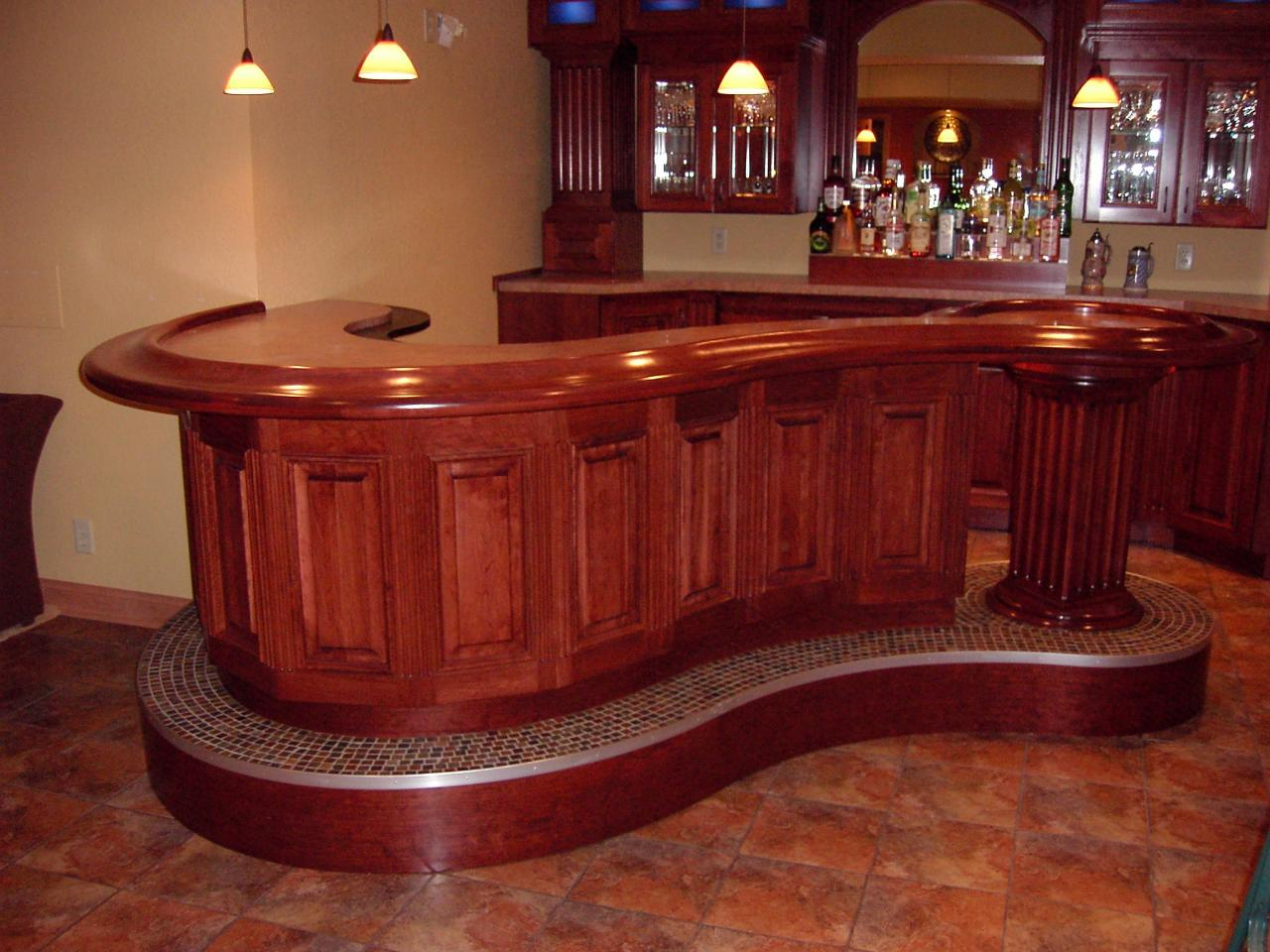 Home Bar milwaukee woodwork - custom home bars